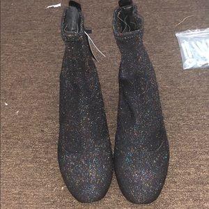 Zara Ankle Glitter Boots
